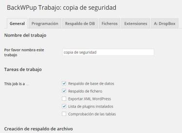 backup de WordPress