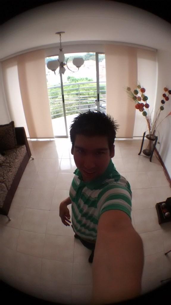 selfie ojo de pez