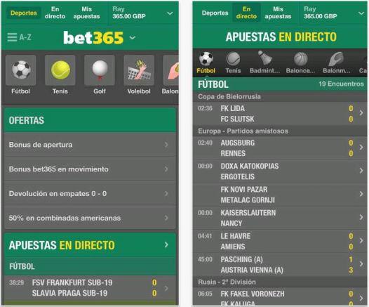Música y deporte en tu smartphone Bet365