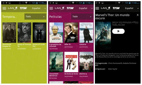 LAN Entertainment el sistema de entretenimiento a bordo vía WiFi