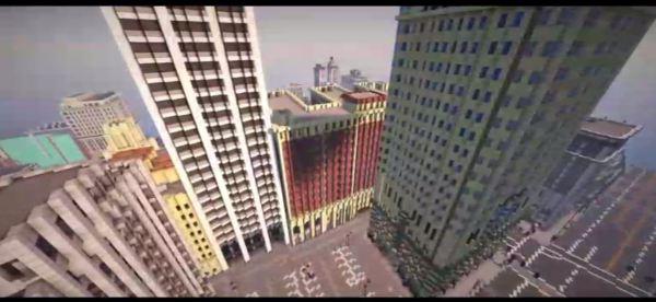 Fanáticos trabajan para recrear el mapa de GTA 5 en Minecraft bloque a bloque