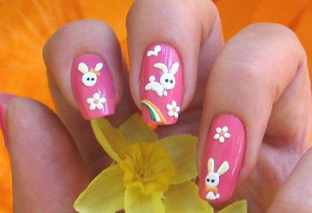 Nail Art coniglietti