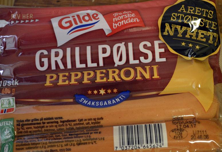 Test: Gilde Grillpølse Pepperoni