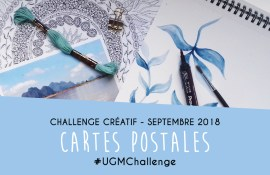 Challenge créatif : cartes postales - Septembre 2018 - Un Grand Marché