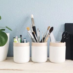 Transformer un pot en verre en pot à crayon : upcycling - Un grand marché