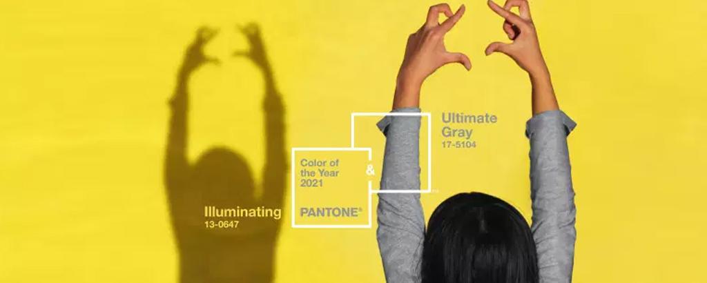 Pantone 2021 : Ultimate Gray et Illuminating