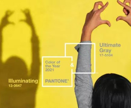Pantone 2021 : Ultimate Gray et Illuminating