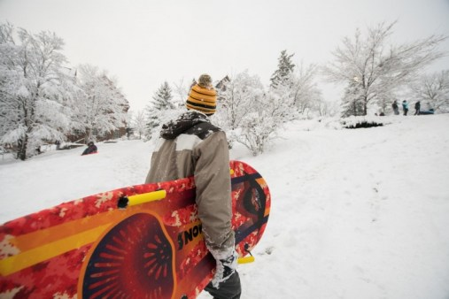 Image result for sledding on snow days at unh
