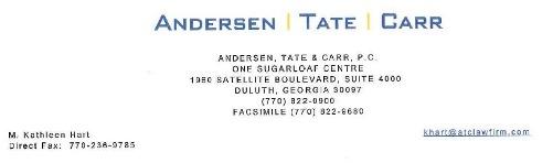 Andersen Tate Carr