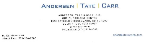 Andersen Tate Carr law firm