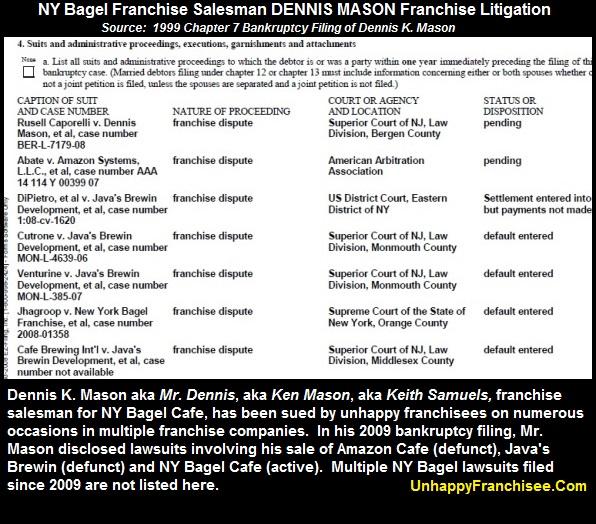 Dennis Mason franchise litigation