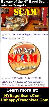NY Bagel Scam Warning