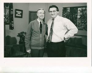 "On the set of ""Mister Rogers' Neighborhood""in 1995, the beginning of our unlikely friendship."