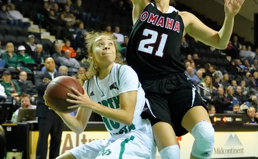RUSS HONS: Photo Gallery — Women's Basketball, University of North Dakota Vs. University of Nebraska-Omaha, November 18, 2015