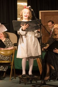 "Nine year old actress Emma-Lynn Dawes portrays the voices of Young Violet and Zuzu in ""It's A Wonderful Life""."