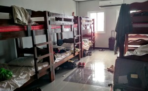 Volunteers litterally spent the week on top of each other as bunkbeds lined the dormitory-like rooms.