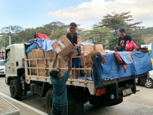 Workers loaded a truck with medical supplies that will be shipped to other needy areas of the Philippines.