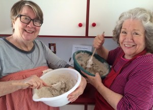 My sister, Sharon (right) and I spent a fun day together at La Farm as I showed her how I make the sourdough rye bread on our MB® plan.