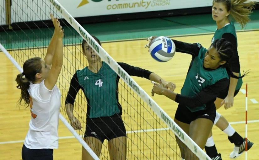 RUSS HONS: Photo Gallery —Women's Volleyball, University Of North Dakota Vs. University Of Texas El-Paso