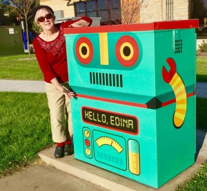 As chair of Public Art Edina, we love to turn boring utility boxes into works of art. This is our newest art wrap.