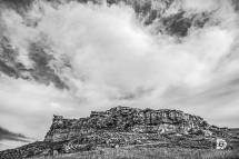 October 16: Nice cloud formations above this large hill just south of Almont N.D.