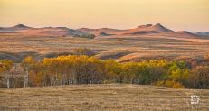 October 16: Early morning sunrise in the hills north of Carson, N.D.