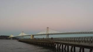 September 26: San Francisco's East Bay Bridge.
