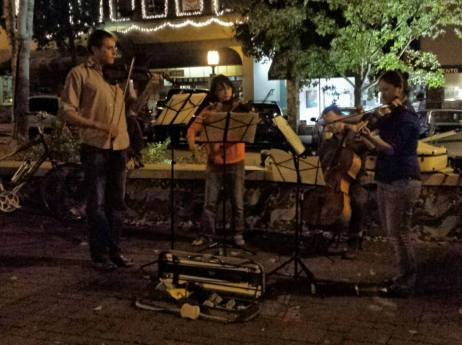 September 29: Street quartet in downtown Ashland, Ore.