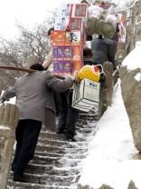 Porters on Mount Hua.