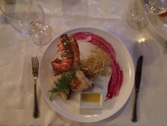 My lobster dinner at Chiquirrin Restaurant in Matanzas. Yummy!