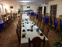 The convent dining room was set up for our breakfast. The large cups on the table were for tea. Cuban coffee cups are very small like French expresso cups. By the way, the convent stay was $6 a night including breakfast! I was one of the lucky ones who had a hot shower.