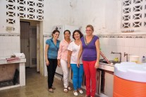 The kitchen ladies in Matanzas, Cuba.