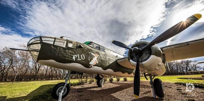 A B-25J bomber from World War II era.