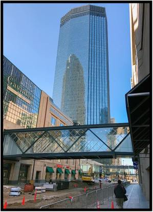 """April 6: Downtown Minneapolis photographed today with my iPhone. Many streets still are under reconstruction, but it was a nice day to wander around before attending a Minnesota Orchestra concert (especially Schubert's Symphony in C major, """"The Great"""")."""