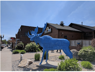 The Blue Moose is a great place to lunch while in the area.