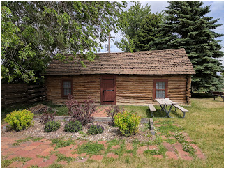 The 1867 Log Cabin Museum in Sheyenne, N.D.