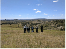 BCA group gathers to discuss a long ago mineral transfer that protected some of this landscape.