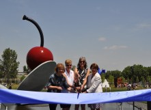 (From left) Lt. Gov. Tina Smith; Jayne Miller, Minneapolis Parks superintendent; Olga Viso, Walker Art Center executive director and U.S. Sen. Amy Klobuchar, D-Minn.