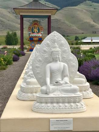 June 20: The Buddha Garden — I took this iPhone picture at the Garden of One Thousand Buddhas, located within the Flathead Indian. My daughter, Kristi, learned of it while a photography student in nearby Missoula, and took me there for the first time a couple of years ago. It's a beautiful and spiritual place that has the capacity to inspire serious thought. It did for me again today.