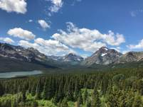 June 21: Another great day of weather in Glacier. I took this iPhone pic on the east side of the park.