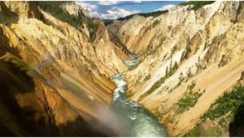 "One can see why this is called ""Yellowstone."""