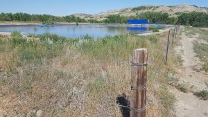 Wylie Bice's illegal water depot, on BLM land.