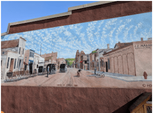 Lovely mural in downtown Decorah.