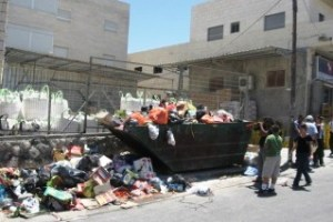 Garbage pickup is spotty in areas of East Jerusalem occupied by Palestinians.
