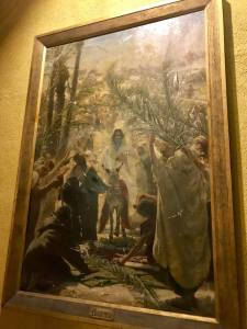 Painting of Jesus on Palm Sunday.