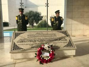 Yassar Arafat's tomb in Ramallah.