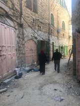The streets in the part of Hebron controlled by the Israelis are emty.