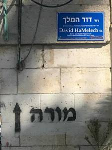 Street signs in Hebron are in Hebrew. There is no Arabic in a city mainly inhabited by Palestinians.