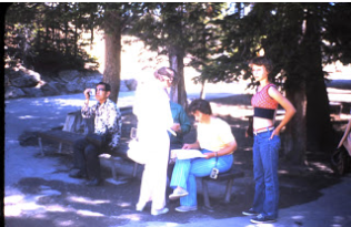 Marian and Lillian at Yellowstone National Park near Yellowstone Falls.
