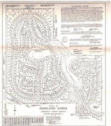 Here's the original plat of Highland Acres. Notice the similarities. Great minds think alike.